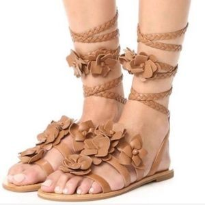 NWOB Tory Burch Blossoms Gladiator Tie Sandals 10